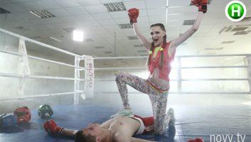 Фотосессия в спортзале, на ринге (Супермодель по-украински 1 сезон)