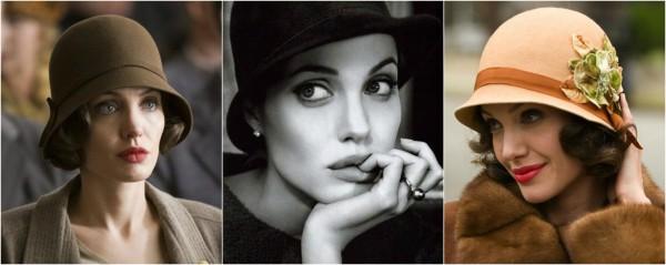 Анджелина Джоли в шляпке